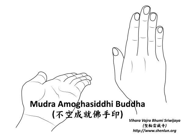 Mudra Amoghasiddhi Buddha