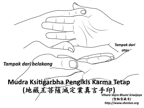 Mudra ksitigarbha Pengikis Karma Tetap