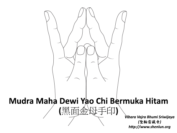Mudra Maha Dewi Yao Chi Bermuka Hitam