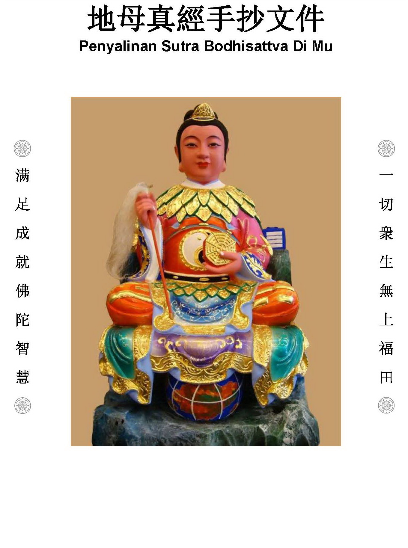 salin sutra bodhisattva dimu Penyalinan Sutra