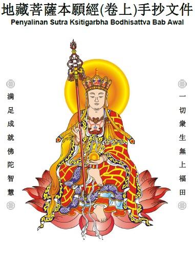 Penyalinan Sutra ksitigarbha Bodhisattva Bab Awal