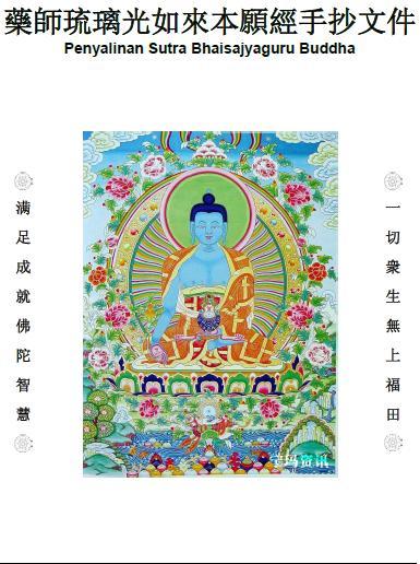 Penyalinan Sutra Bhaisajyaguru Buddha