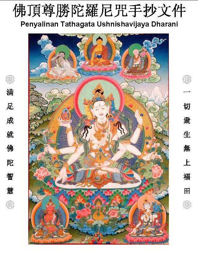 salin usnishavijaya dharani Penyalinan Sutra